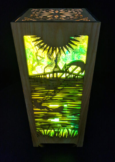 Kite Surfing Accent Lamp