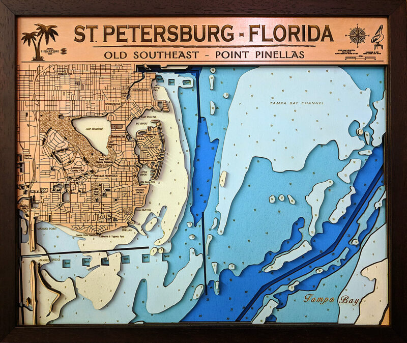 "St. Petersburg -Pinellas Point - Large - 6 Layers - 30"" x 25"""